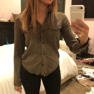 James Perse Tops - James Perse army button up shirt 0